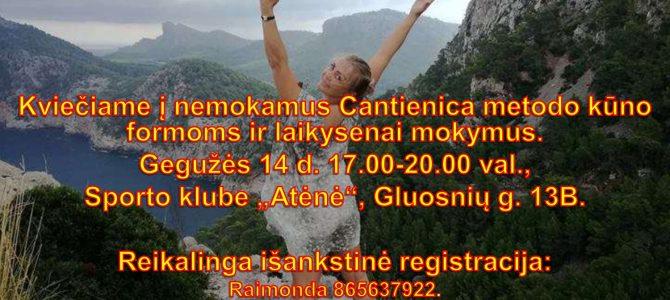 Kviečiame dalyvauti Cantienica metodo mokymuose