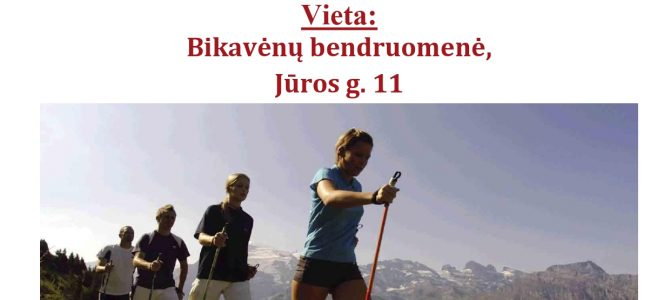 Organizuojami nemokami šiaurietiškojo ėjimo užsiėmimai Bikavėnų bendruomenėje