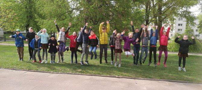 Judėjimo sveikatos labui diena Martyno Jankaus pagrindinėje mokykloje