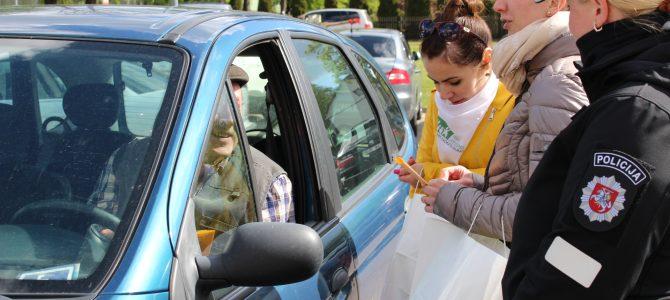 Saugaus eismo keliuose akcija Pagėgiuose