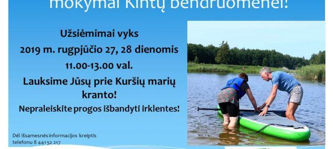 Nemokami pasiplaukiojimo irklentėmis mokymai bendruomenėms!