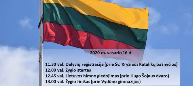 """Vasario 16 – ąją – į """"Laisvės žingsnių"""" žygį"""